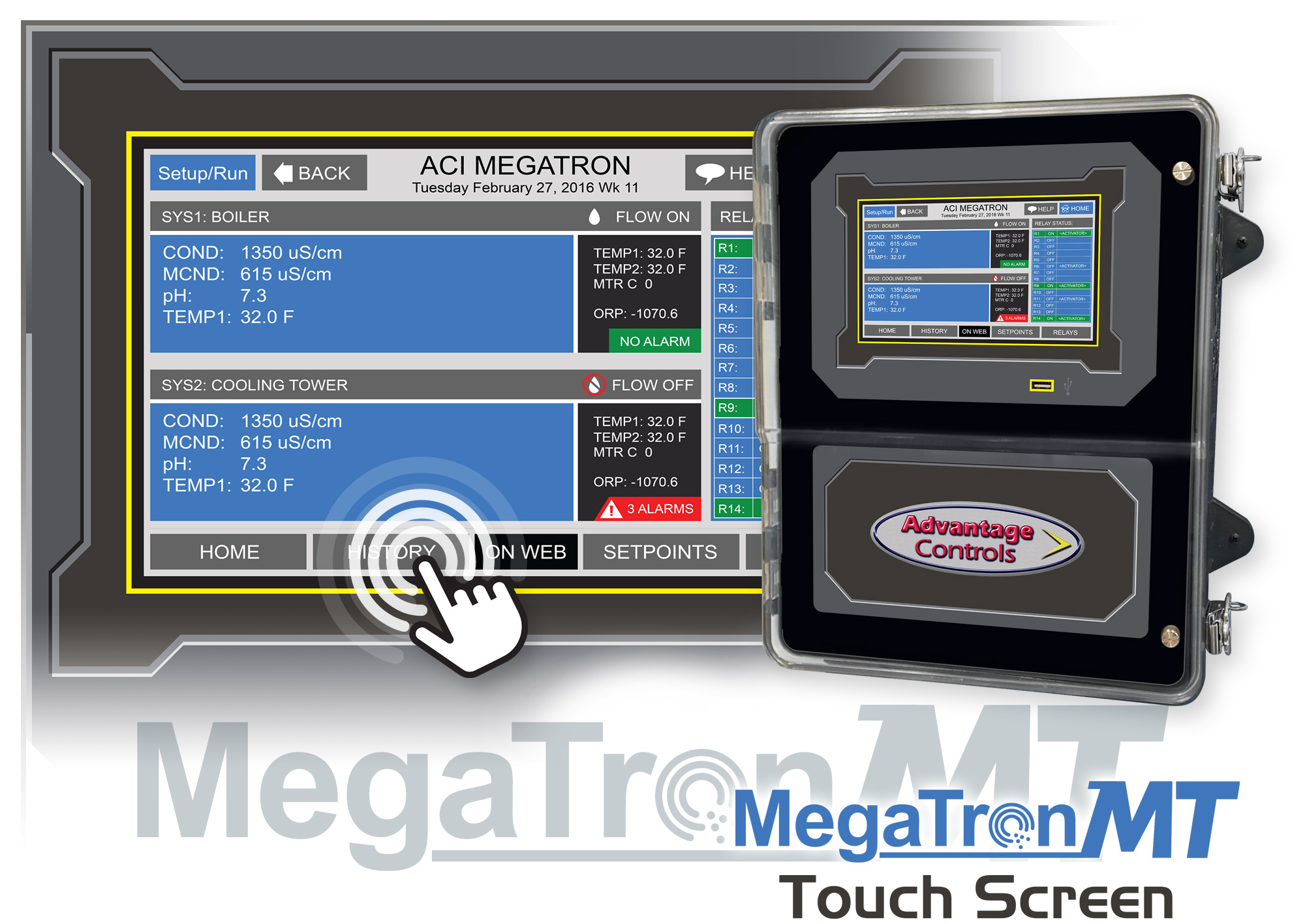 MegaTronMT touch screen controller demo at AWT2018