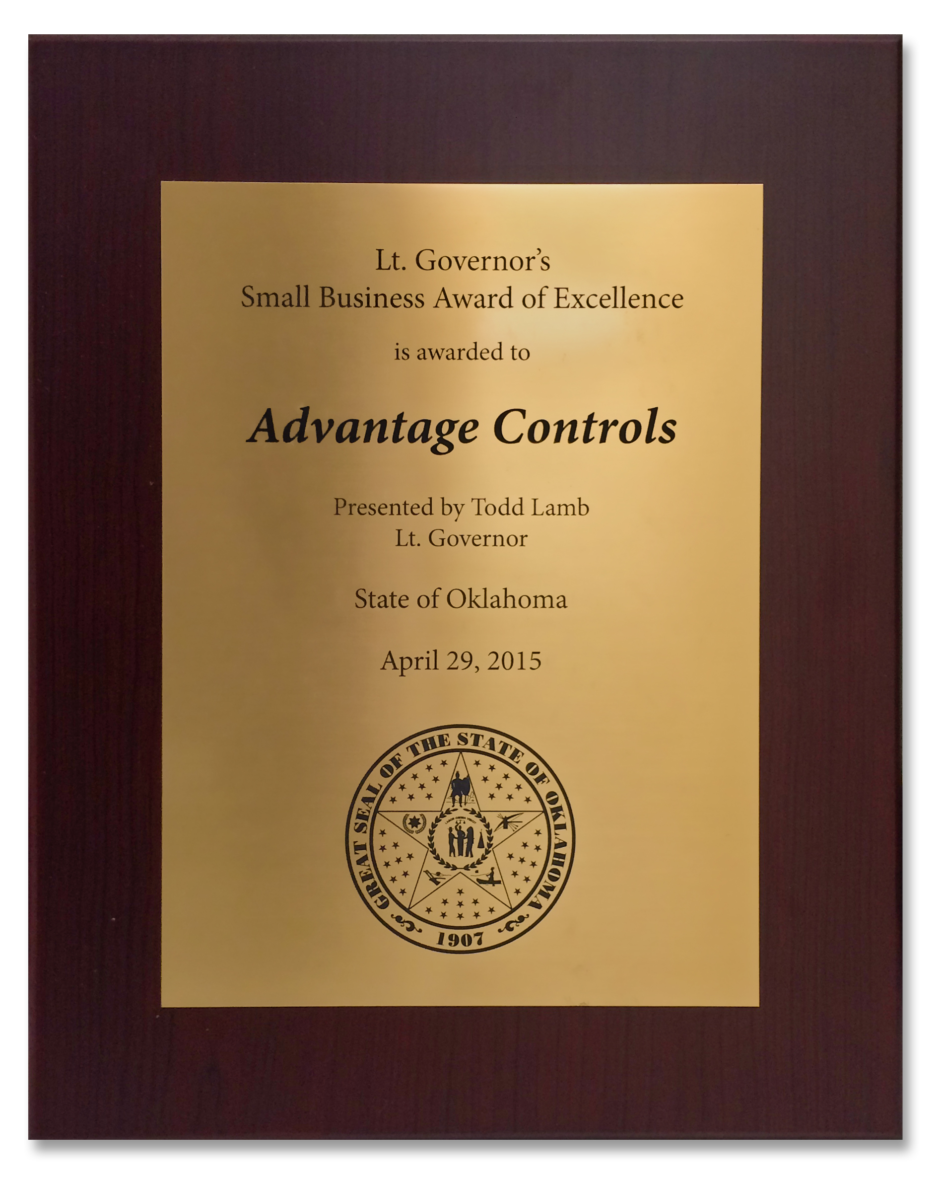 Advantage Controls - Awards and Recognition - industrial